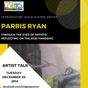 poster for Parris Ryan artist talk