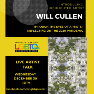 poster for artist talk with Will Cullen